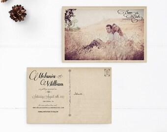 "Save the Date / Save the Date Cards / Save the Date Postcard / Photo Save the Date - the ""Melania"""