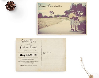 """Postcard Save the Date, 4x6, Save the Dave Card, the  """"Krista"""""""