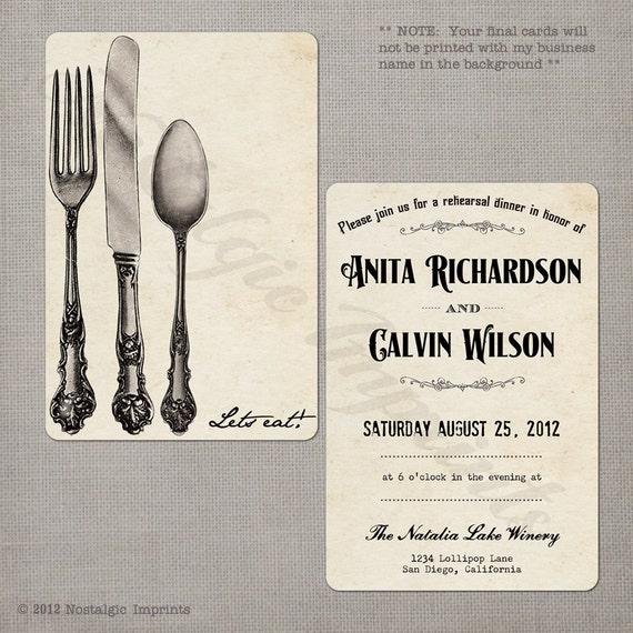 Wedding Rehearsal Invitations: Items Similar To Wedding Rehearsal Dinner Invitations