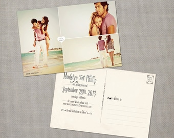 """Save the Date Postcards, 4x6, Save the Date, the """"Madelyn 1"""""""