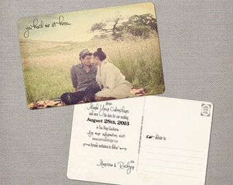"""Wedding save the date postcards - 4x6 - Save the Date Postcards - the """"Marissa 1"""""""