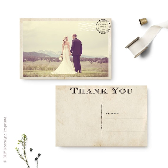 Wedding Thank You Cards Thank You Note Cards Vintage Cards Etsy