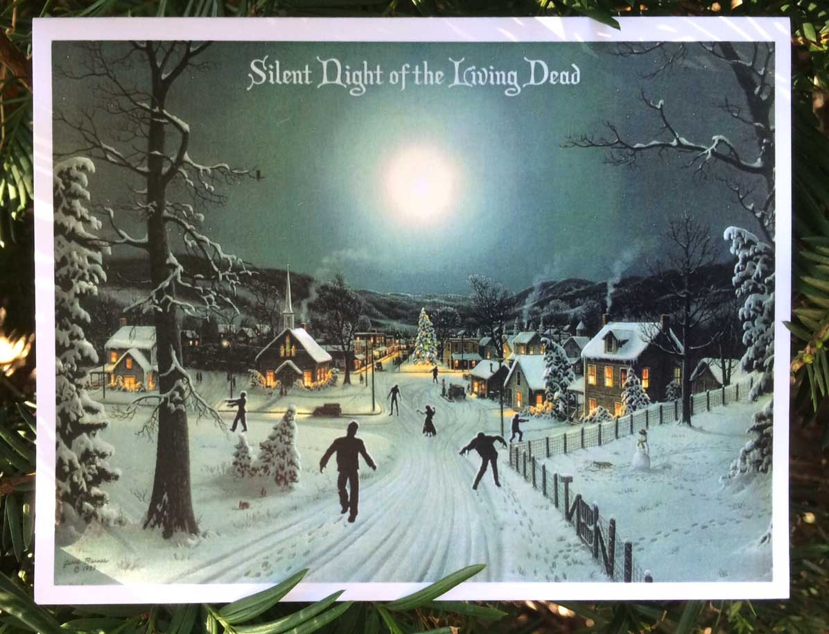 Zombie Christmas Christmas Cards Funny Christmas Cards   Etsy
