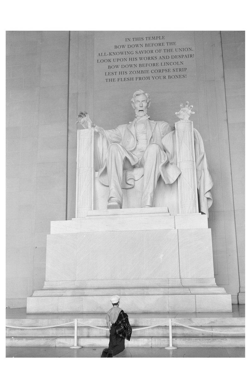 Digital Print Abraham Lincoln Lincoln Memorial Washington image 0