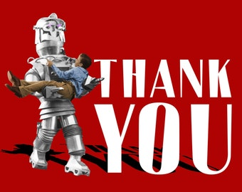 Thank You Card, Movie, Thanks, Robot, art deco, 1950s,Tobor, Thank you, Geekery, SciFi, Alternate Histories