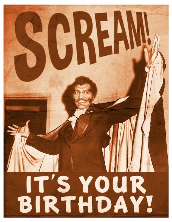 Birthday Card Funny Cards Dracula Vampire