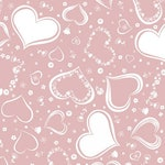 Two Of Hearts Embrace Muslin, Dusty Pink Muslin, White Pink Double Gauze, 100% cotton Swaddle Fabric, scarf party napkins curtain fabric