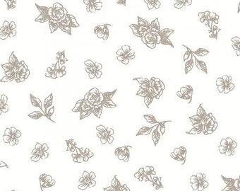 1980/'s Bold Rose Print Banded Waist Poly Shirt I Blouse I Top I Josephine I Sz Med