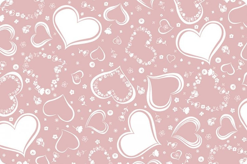 Two Of Hearts Embrace Muslin Dusty Pink Muslin White Pink image 0