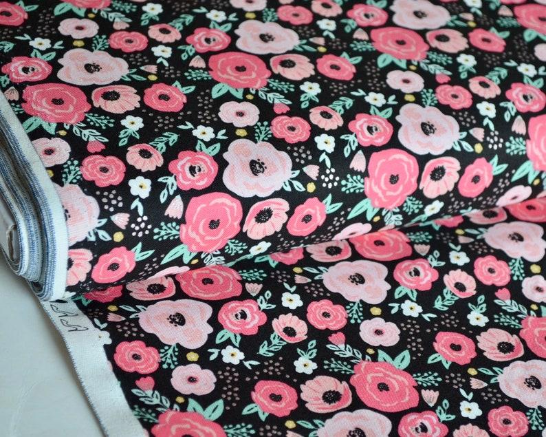 Floral Black Sparkle Glam Girl Collection Rose Gold Sparkle image 0