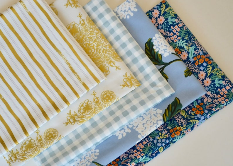 Meadow Bundle of 5 prints CottonSteel by Rifle Paper Co image 0