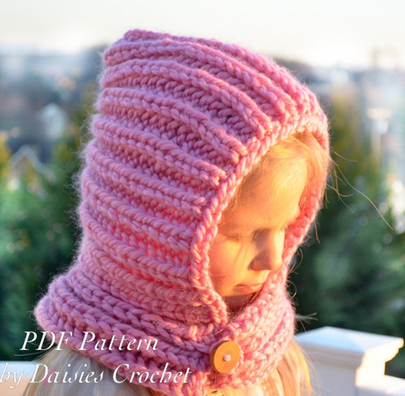 Knitting Hooded Cowl PATTERN. Knit scarf. Knit neck warmer ...