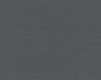 NEW ORGANiC Solid Flannel, M263-1071 CHARCOAL from Mammoth Collection, Apparel fabric, Fabric by Yards, Robert Kaufman