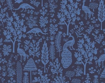 PREORDER ship end DEC, RP708-NA4 Menagerie Silhouette - Navy Fabric, Camont Collection, Cotton and Steel, Quilting Weight Cotton
