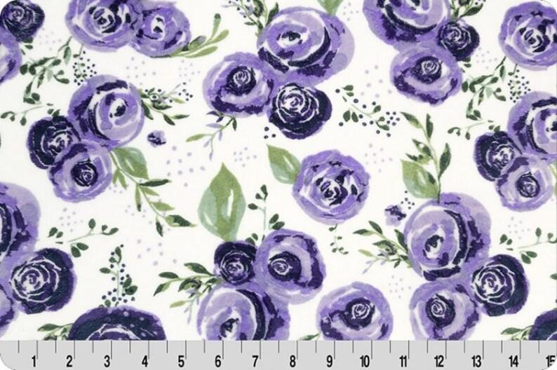 Rosette Embrace Muslin Floral Eggplant Muslin White Purple image 0