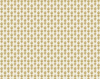 PREORDER ship end DEC, RP709-MG1M Petal - Metallic Gold Metallic Fabric, Camont Collection, Cotton and Steel, Quilting Weight Cotton