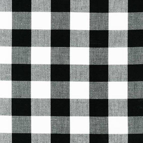 Black 1 Plaid Cotton Reversible Carolina Gingham Black Yarn Dyed Fabric Black White Quilting Fabric Plaid Cotton Robert Kaufman