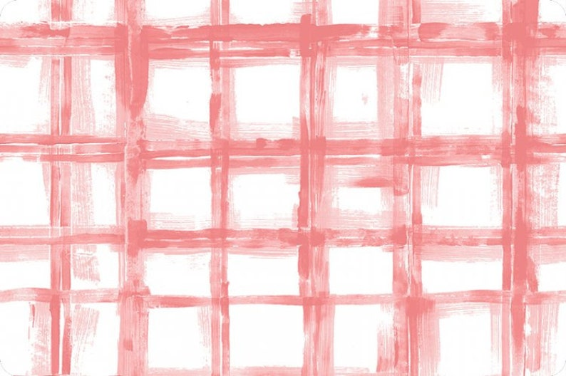 Crosshatch Embrace Muslin Coral Plaid Muslin White Coral image 0