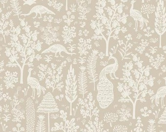 PREORDER ship end DEC, RP708-KH2 Menagerie Silhouette - Khaki Fabric, Camont Collection, Cotton and Steel, Quilting Weight Cotton