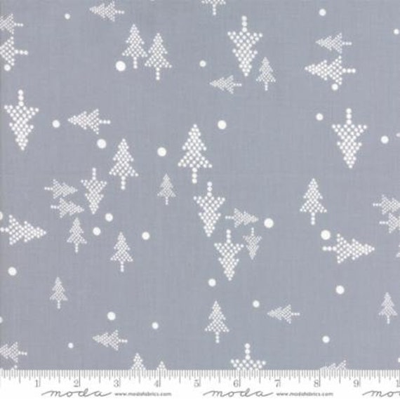Christmas Quilting Cotton White Christmas Silver Fabric Grey Etsy