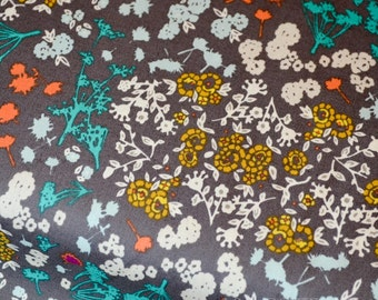 Quiting Weight Designed Cotton Fabric, Indelible Collection, Floret Stains Mulberry, Modern Textile