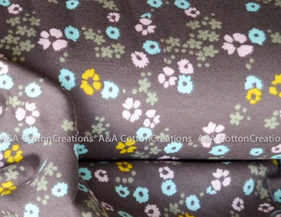 986927aff3 ORGANIC Interlock Knit Scattered Floral Brown knit GOTs