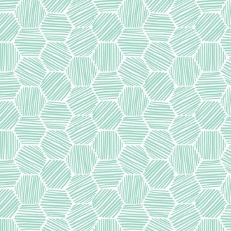 cac2bd7026b Last Piece-ORGANIC Interlock Knit Hatchmarks Turquoise knit | Etsy