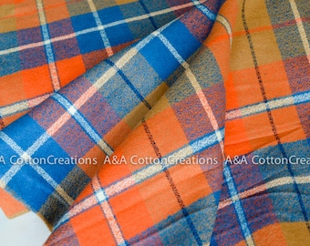 Adventure Mammoth Flannel Fabric, Plaid Flannel, 16430-267 Apparel fabric, Fabric by Yards, Robert Kaufman Fabrics Choose size and quantity