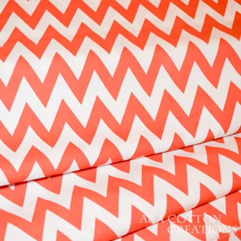 Organic Chevron cotton Monaluna fabric Quilting Weight Ziggy prints textile Children bedding,