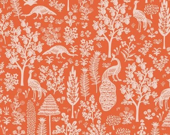 PREORDER ship end DEC, RP708-OR3 Menagerie Silhouette - Orange Fabric, Camont Collection, Cotton and Steel, Quilting Weight Cotton