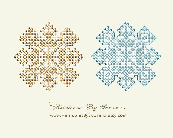 Instant Download Snowflake 2 Machine Cross Stitch Design Etsy