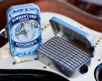 Portable Mint Tin Amp and Speaker for Electric Guitar- Ram/Blackface handmade gifts for guitar players