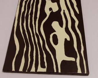 SALE Handpainted Faux Bois Wood Grain Pop Painting