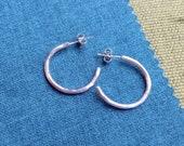 Hoop earrings Sterling Si...