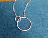 Two circles pendant Sterl...