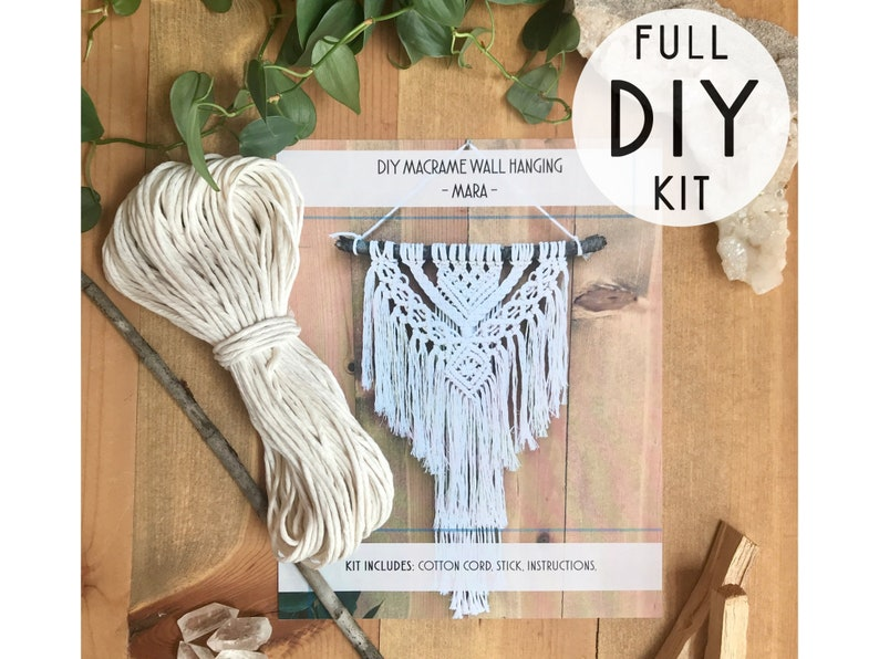 DIY macrame Wall Hanging kit The Mara macrame kit Fiber image 0