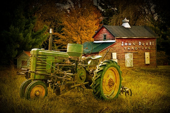 John Deere Vintage Tractor Old Tractor Red Barn Barn Sign