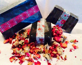 Black Rose Goats Milk Gand Soap, available in 3 sizes