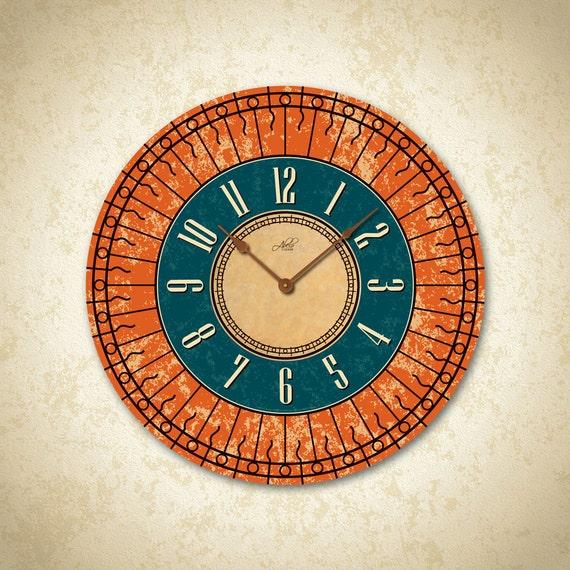 Large Wall Clock . Custom Clock. Kitchen Clock. Rustic Clock. | Etsy