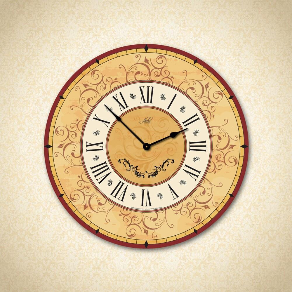 Large Wall Clock. Wall Clock. Custom Clock. Kitchen Clock. | Etsy