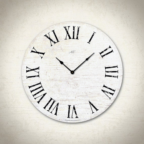 Large Wall Clock. Rustic Clocks. Kitchen Wall Decor. Kitchen Wall Clocks.  Clocks for Wall. Office Wall Clock Decor. Clocks READY TO SHIP 18\