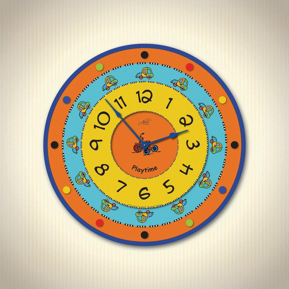 Kids Wall Clocks. Children Wall Clock. Large Wall Clock. Kids | Etsy