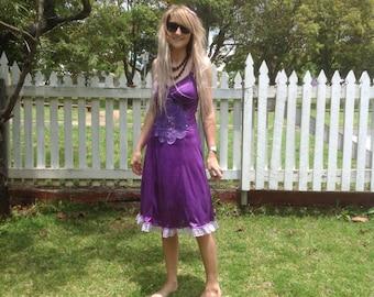 Deep Purple Sparkly Fairy Dreams Slip Dress