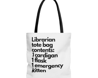 FLS: Librarian Tote Bag Contents, Fake Library Statistics, Support Libraries