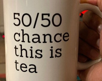 FLS: 50/50 chance this is tea, Fake Library Statistics, Support Libraries, Tea Mug Tea Cup