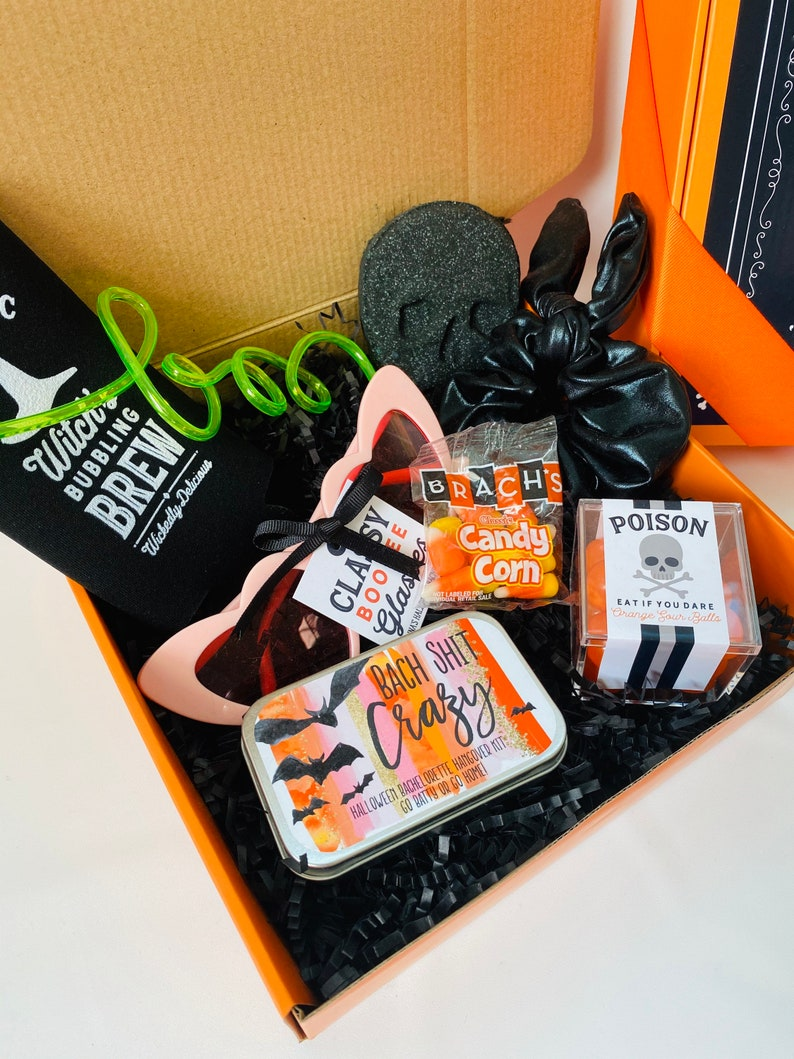 Quarantine Halloween Bachelorette Party Gift Box Favor image 0