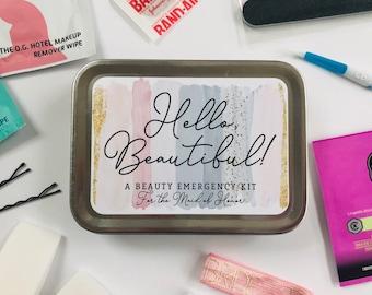 Bridesmaid Proposal Gift Box Beauty Emergency Kit, Will You Be My Bridesmaid, Maid of Honor, Wedding Day Bridal Party Gift Box Tin