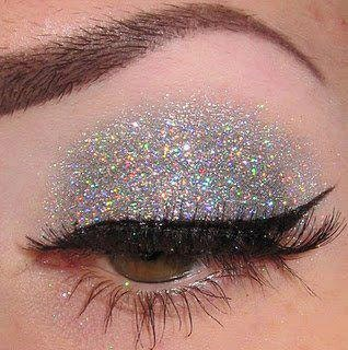 tiara silver holographic glitter etsy