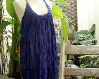 Summer Ruffles Dress - Navy Blue