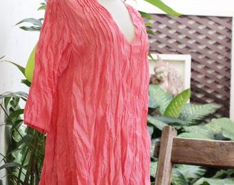 Comfy Cotton Blouse - Peachy Pink